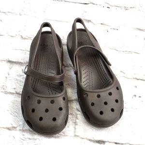 CROCS Women's Brown Clogs Size 8